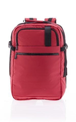 Maleta mochila ligera extensible de cabina con departamentos Vogart de nylon rojo