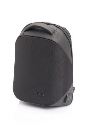Mochila antirrobo con USB pequeña rígida Vogart de nylon impermeable negro