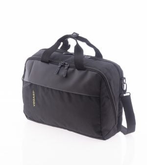Cartera mochila ligera con puerto USB Vogart de nylon impermeable negro