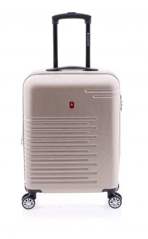 Maleta de cabina extensible tipo trolley Gladiator de cuatro ruedas y cierre TSA arena