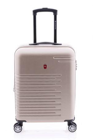 Maleta de cabina extensible tipo trolley Gladiator de cuatro ruedas y cierre TSA