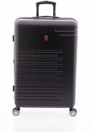 Maleta grande extensible tipo trolley Gladiator de cuatro ruedas y cierre TSA negro