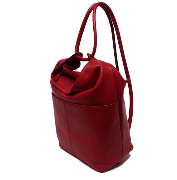 Bolso mochila grande de piel López Moreno rojo