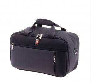 Bolsa de viaje de cabina bandolera y mochila de nylon negro