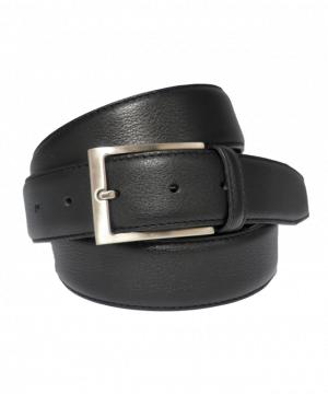 Cinturón de vestir clásico de piel negro
