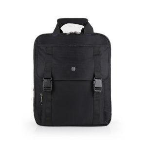Cartera mochila extensible Gabol con solapa de nylon negro