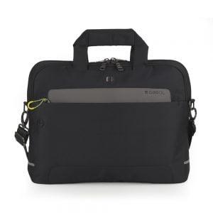 Cartera portadocumentos para portátil Gabol de nylon impermeable negro ligera