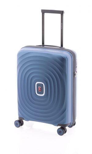 Maleta cabina tipo trolley de polipropileno Gladiator con cuatro ruedas y cierre TSA azul