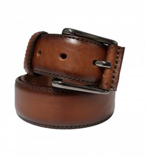 Cinturón de piel sport de con hebilla cromada cuero