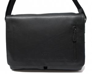 Bolso carterón bandolera con solapa de piel