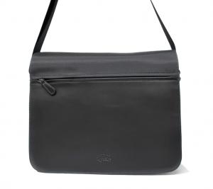 Bolso carterón unisex con solapa de nylon y piel