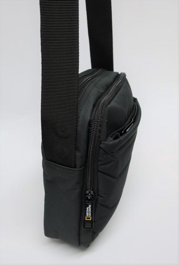 bolso bandolera negro nylon