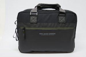 Cartera Pepe Jeans para tablet y portátil de nylon y sintético negro