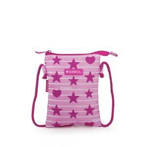 Bolso infantil pequeño estampado estrellas rosa