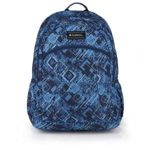Mochila escolar Gabol con dos departamentos azul