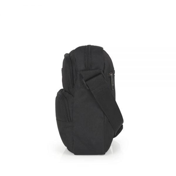 Bolso bandolera unisex impermeable con bolsillos Gabol negro