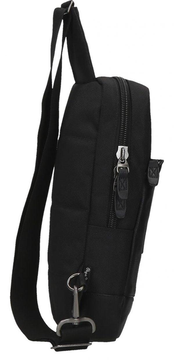 Mochila cruzada con bolsillo Pepe Jeans negro