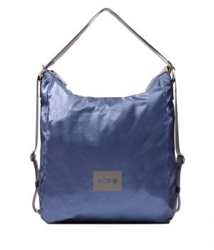 Bolso mochila metalizado KCB azul