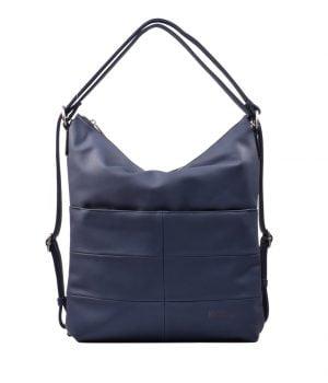 Bolso mochila vegano cuadros KCB azul