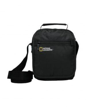 Bolso de mano y bandolera con solapa National Geographic negro