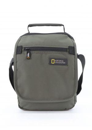 Bolso de mano y bandolera con solapa reciclado National Geographic kaki