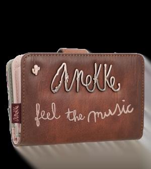 Billetero mediano con cremallera Ixchel music de Anekke