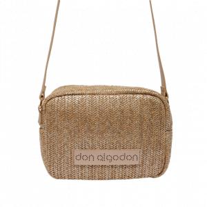 Bolso bandolera rectangular pequeño espiga Don Algodon oro