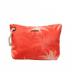 Neceser de playa estampado palmeras naranja