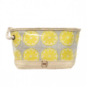 Neceser de playa plastificado estampado limones