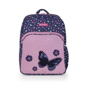 Mochila escolar estampada butterfly Gabol multicolor azul