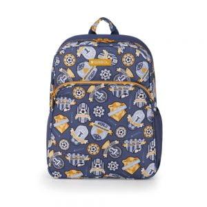 Mochila escolar estampada symbol Gabol azul