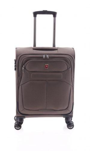 Maleta ligera de cabina tipo trolley Gladiator de nylon con cuatro ruedas y cierre TSA