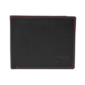 Cartera americana con portamonedas de piel con protección RFID negro