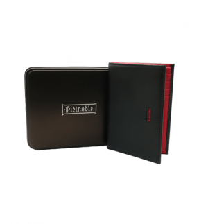 203_MC-Cartera-tarjetero-billetero-piel-lisa-combinada-color-Pielnoble-caja-metalica-negro-rojo-frontal
