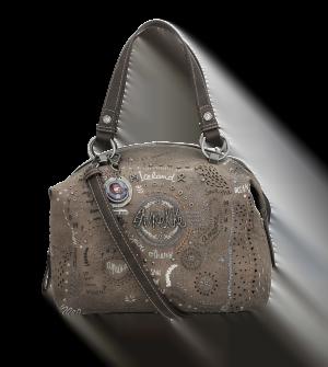 Bolso maletín con dos asas estampado Iceland Rune de Anekke